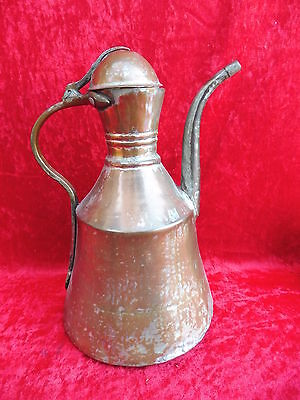 Antiguo Jarro __ 31cm __ Cobre __ Antiguo __