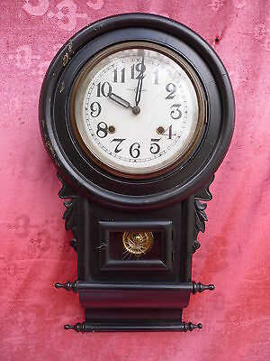 Beautiful, Old Pendulum Clock, Holz-Glas, Old Wall Clock