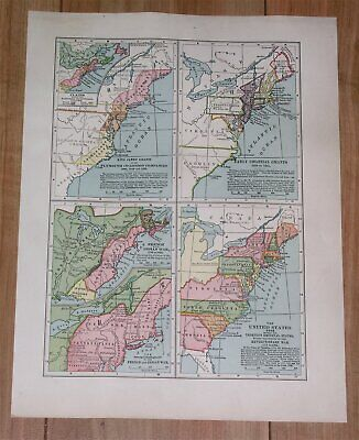 1936 Historical Of Map United States 1606-1783 / England Industrial Revolution
