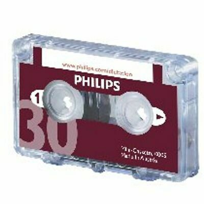NEW! Philips Dictation Cassette 30 Minutes Pack of 10 LFH0005/30