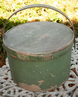 Antique Primitive Pantry Box Original Green Paint