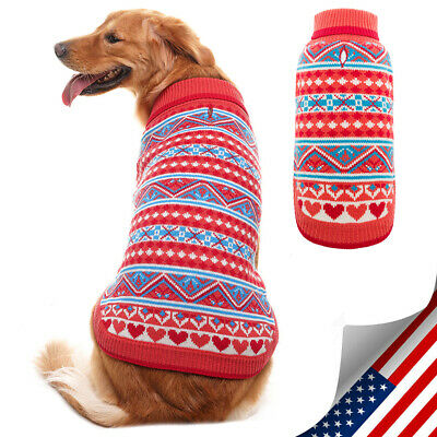 Dog Christmas Knitted Sweater Knit Clothes Apparel For Small Medium Large Dogs
