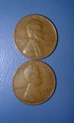 1940/'s /& 1950/'s Lincoln Wheat Cent Pennies 500 Coins Estate Lot Mixed Mints