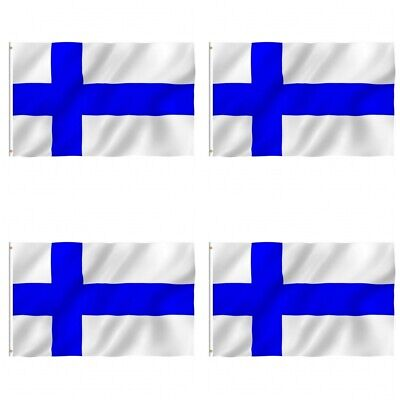 Finland Country Flag Finnish Vintage Look Wall Decor Novelty Aluminum Metal Sign
