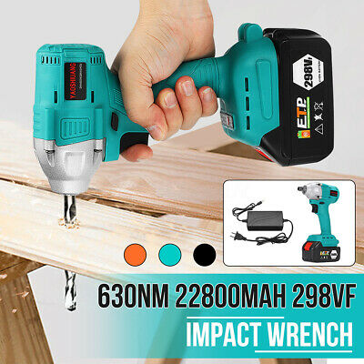 630NM Brushless Cordless Electric Impact Wrench With 298VF 22800mAh Battery