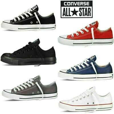 Converse Unisex Chuck Taylor Classic All Star Lo OX Hi Tops Canvas Trainer shoes