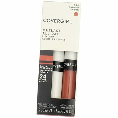 3 Pack CoverGirl Outlast All-Day Lip Color, Canyon 626, 0.065 fl oz, 2 Ct