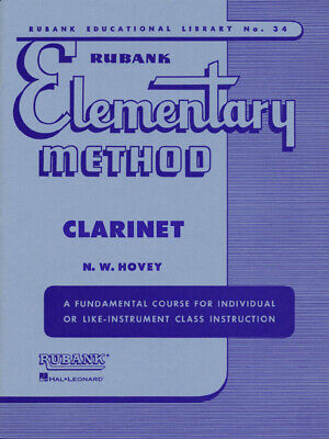 Rubank Elementary Method for Clarinet Beginner Music Lessons Studies Scales Book