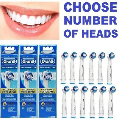 Genuine Braun Oral B Tooth Brush Heads - Precision Clean