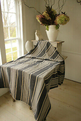 Brilliant Antique Indigo Blue Striped Ticking Feather Bed Cover Linen Bralicious Painted Fabric Chair Ideas Braliciousco