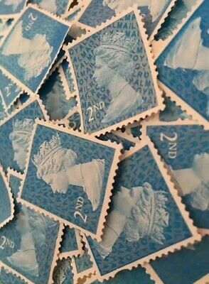 200 X 2nd Class Security Stamps Unfranked Off Paper No Gum + 10 Free Every 200