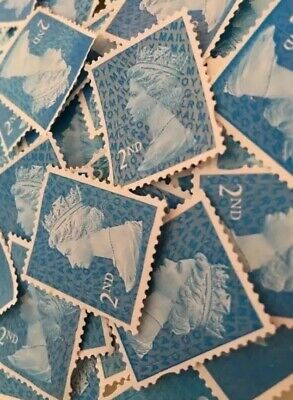 400 X 2nd Class Security Stamps Unfranked Off Paper No Gum + 20 Free Every 400