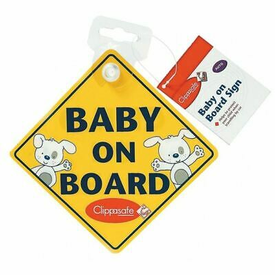 Clippasafe BABY ON BOARD / CHILD ON BOARD SIGN Car Seat Accessory - BN