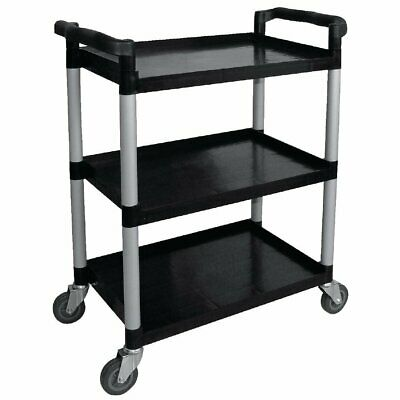 Vogue Polypropylene Mobile Utility 3 Tier Trolley Small  960 x 415 x 830mm CF101