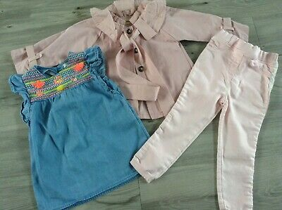 (W8) Next Haitiaobao  Girls Small Bundle / Outfit 2-3Yrs Jacket Top Trousers