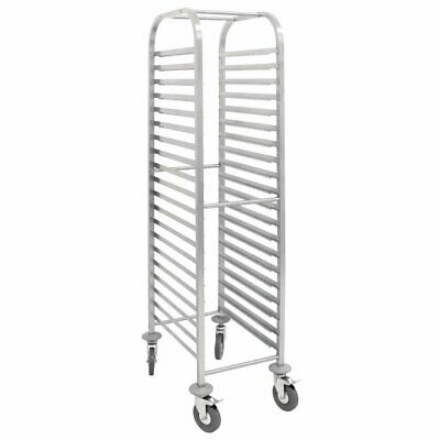 Vogue S/S Gastronorm 1/1 Racking Trolley 20 Level  1700 x 380 x 557mm - U376