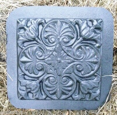"""Tuscan stepping stone mold plaster concrete resin reusable 10.5"""" x 10"""" x 1"""""""