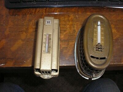 Lot Of 2 Vintage Home Heating Thermostats 1 Brass 1 Old Honeywell