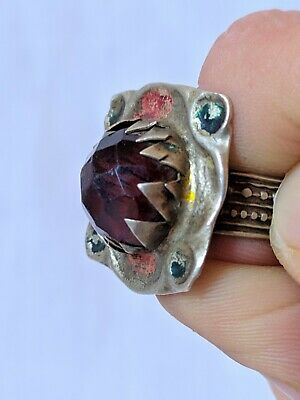 Ancient Antique Roman Ring Bronze Artifact Very Old Stuning Stone Extremely Rare