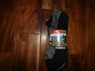 HIGH SIERRA Mens Gray Black 6 Pair Low Cut Performance Socks Shoe Sizes 8-12