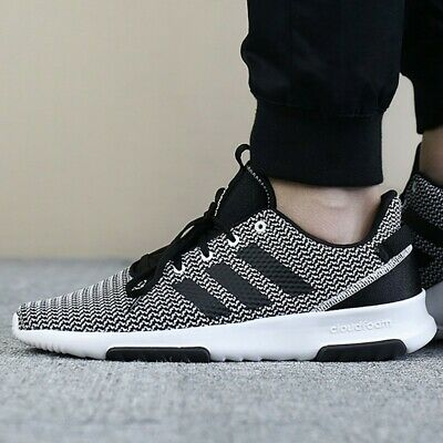 Adidas Cloudfoam Racer TR Black White Lace Up Sneakers Tennis Shoes Trainers 11