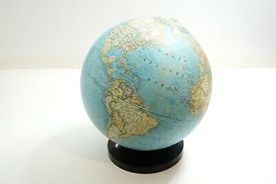 "Vintage National Geographic World Globe 13"" Tall From 1976 With Geometer"