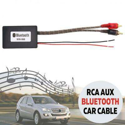 Bluetooth Wireless Connection 2 RCA AUX Adapter Audio Input Wireless Cable Kit