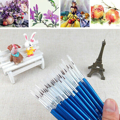 Artist Paint Brushes Acrylic Oil Watercolour Painting Craft Art Model US~