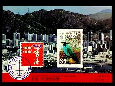 Trinidad And Tobago 1997 Stamp Exhib Commemorative Issue Of Hong Kong Mint Sheet