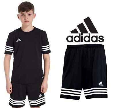 Adidas Shorts Kids Boys Girls Running Sports Unisex 6-14 Years Black Entrada