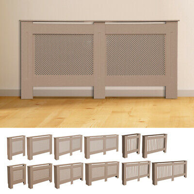 Radiator Cover MDF Wood Shelf Heating Protecto Natural Wall Modern Cabinet Home