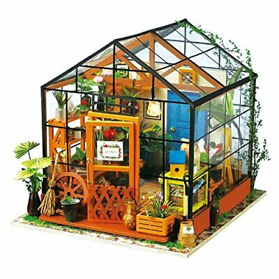 ROBOTIME DIY Dollhouse Wooden Miniature Furniture Kit (Cathy's Flower House)