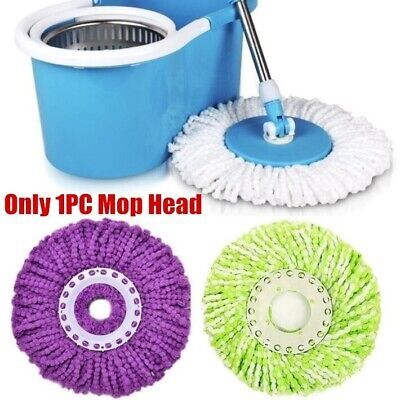 Replacement Microfiber Mop Head Clean Eazy Wring Tool Refill 360 Rotate Spin Mop