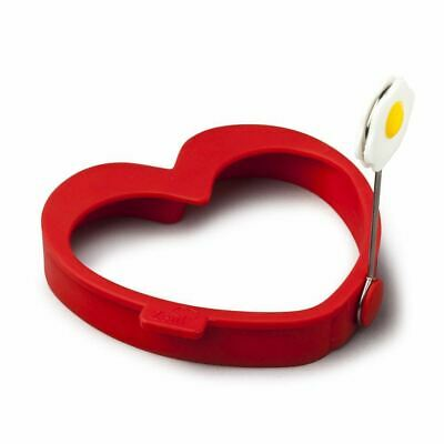 Zeal Egg Ring Heart Silicone Red (Pack of 4)