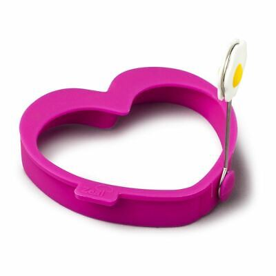 Zeal Egg Ring Heart Silicone Hot Pink (Pack of 4)
