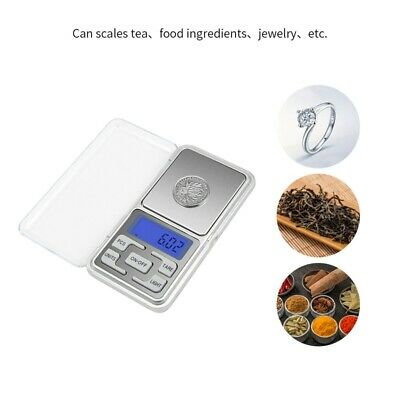 0.1g 0.01g Portable Mini Digital Scale Jewelry Pocket Balance Weight Kitchen LCD