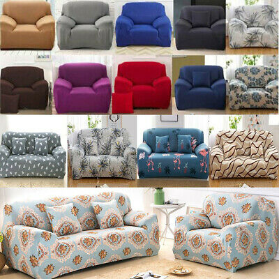 Easy fit Stretch Sofa Cover Stretch Protector Soft Couch Slipcover 1 2 3 4Seater