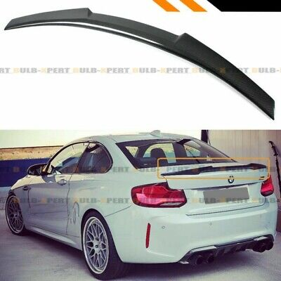 Bmw Abs F22 2 Series M4 Style  Performance Boot Spoiler Wing Matte Black Rear