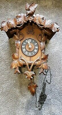 Antique G.H.S Cuckoo Clock - Black Forest - Restoration needed
