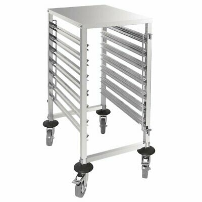 Vogue S/S Gastronorm 1/1 Racking Trolley 7 Level 900 x 380 x 557mm - GG498
