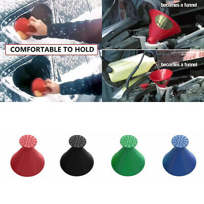 Magical Car Glass Windshield Ice Snow Clean Remover Scrap Tool Cone Round Funnel