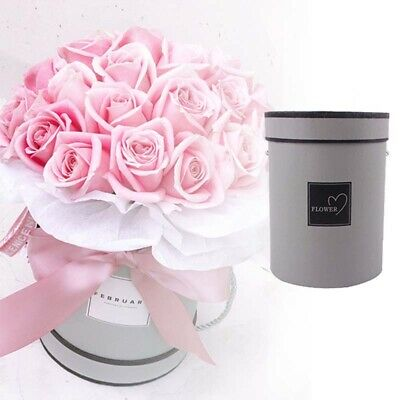 Handheld Bouquet Flower Boxes Round Living Vases Florist Box Storage Boxes