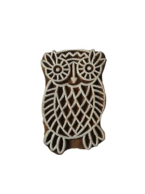 DIY Henna Fabric Textile Paper Clay Pottery Block Printing Stamp Jaipuri Eagle Bird Shape Wood Print Textile Block