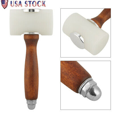 Leathercraft Carving Wood Nylon Hammer DIY Cowhide Wooden Mallet Install Tools