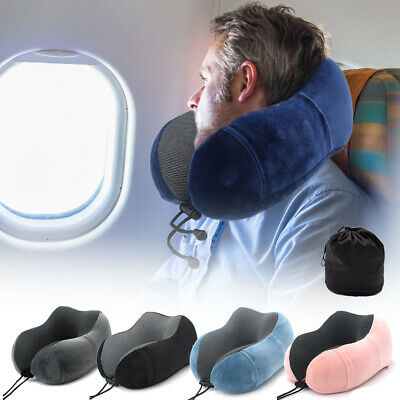Memory Foam U Shaped Travel Pillow Soft Neck Support Headrest Sleep Car Airplane