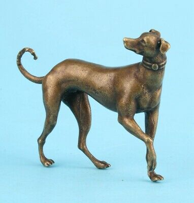 Unique China Bronze Statue Animal Greyhound Solid Mascot Collec Gift