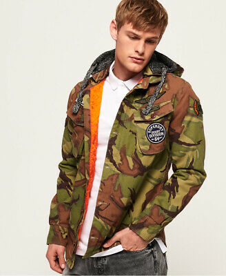 SUPERDRY MENS MILITARY Storm Hooded Jacket EUR 54,18