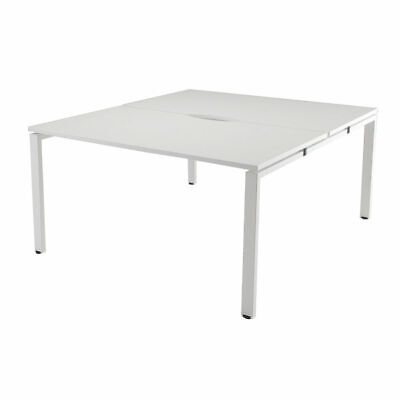 NEW! Arista White 1400mm 2 Person Bench System KF838960