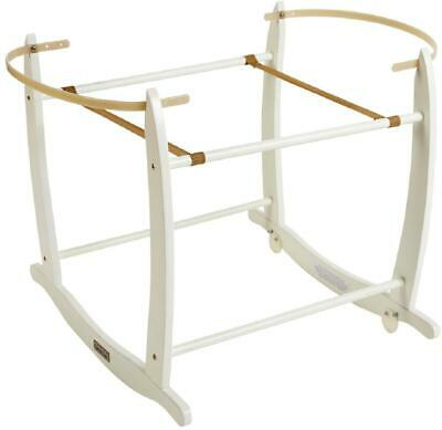 Clair De Lune DELUXE ROCKING MOSES BASKET STAND - WHITE Baby Nursery