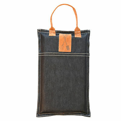 Denim and Faux Leather Kneeler Gardening Mat Knee Protection